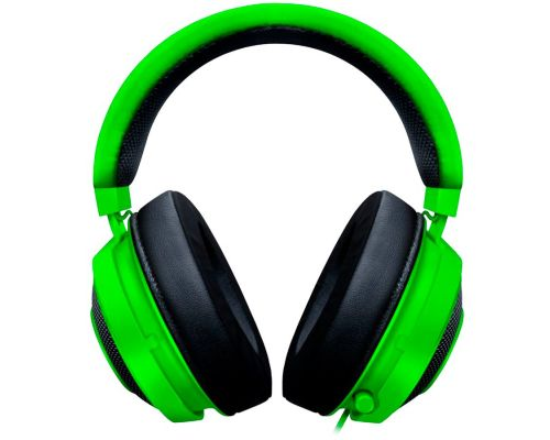 Razer Kraken Green 2019, Drivers: 50 mm with Neodymium magnets, Frequency response: 12 Hz – 28 kHz, Cooling Gel-Infused Cushions, Bauxite Aluminum Frame, Retractable Unidirectional Microphone, Input power: 30 mW (Max), Impedance: 32 ? @ 1 kHz, image 2