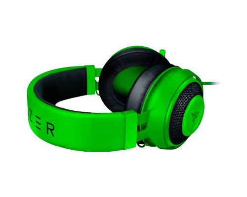 Razer Kraken Green 2019, Drivers: 50 mm with Neodymium magnets, Frequency response: 12 Hz – 28 kHz, Cooling Gel-Infused Cushions, Bauxite Aluminum Frame, Retractable Unidirectional Microphone, Input power: 30 mW (Max), Impedance: 32 ? @ 1 kHz, image 3