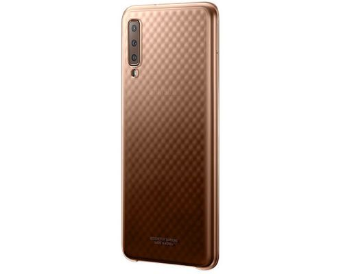 Cover, Samsung Gradation Cover Galaxy A7 (2018), Gold, image 2