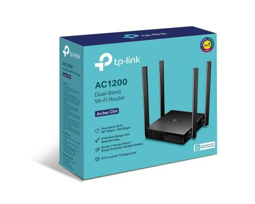 Wireless Router TP-Link Archer C54 AC1200, Dual band, 4 antennas, image 4