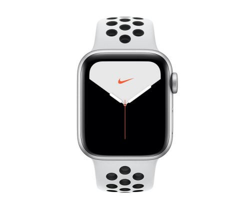 Apple Watch Nike Series 5 GPS, 44mm Silver Aluminium Case with Pure Platinum/Black Nike Sport Band, image 1